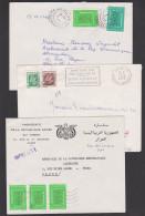 Alger Algerien Algerie Oran-Mnaouer Transfusion Cancuine, Ambassade De La Republique Arabe  3 Letters