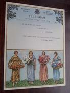 TELEGRAM Van Gaelen Antwerpen / Verzonden 1947 Gaublomme Baert / Belgique - Belgium !! - Faire-part