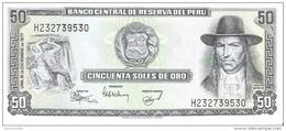 Peru - Pick 113 - 50 Soles De Oro 1977 - AUnc - Perù