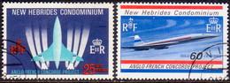 NEW HEBRIDES(English Inscr.) 1968 SG 133-34 Compl.set Used Concorde