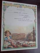 TELEGRAM Pauwels De Wachter Antwerpen / Verzonden 1948 Climan / Belgique - Belgium !! - Faire-part