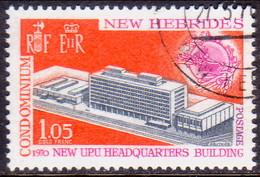 NEW HEBRIDES(English Inscr.) 1970 SG 141 1f.05 Used New UPU Headquarters