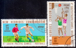 NEW HEBRIDES(English Inscr.) 1971 SG 149-50 Compl.set Used South Pacific Games - English Legend