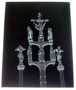Guehenno Détail Du Calvaire - Josselin Morbihan - Négatif Sur Plaque De Verre 9X12cm Env - Bien Lire Descriptif - Glasdias