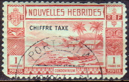 NEW HEBRIDES(French Inscr.) 1938 SG FD69 1fr Postage Due Used CV £160 Faults On Corners And Teeth