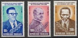 Togo Poste Aérienne 1980 N° 431-433 NMH Allenda, Pape Paul VI Et Kenyatta   (D10) - Togo (1960-...)