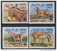 MDW-BK1-002 MDA MINT ¤ SUDAN 1994 4w In Serie ¤ - WWF - AFRICAN WILD - ENDANGERED SPECIES - MAMMALS