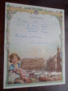 TELEGRAM Denys Deboo BRUGGE Assebroek / Verzonden 1952 Van Rossum / Belgique - Belgium !! - Faire-part