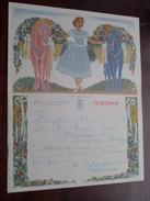 TELEGRAM Denys Deboo BRUGGE Assebroek / Verzonden 1952 Verhaeghe Debouvere / Belgique - Belgium !! - Faire-part