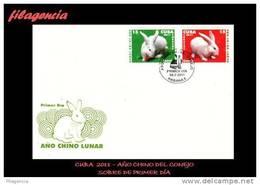 AMERICA. CUBA SPD-FDC. 2011 AÑO CHINO LUNAR. AÑO DEL CONEJO - FDC