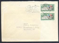 Germany DDR 1962 Cover Athletics Athletik Leichtathletik; Cycling Ciclisme; VIII.Student Games Helsinki; Universiade