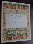 TELEGRAM Denys Deboo BRUGGE Assebroek / Verzonden 1952 Commandant Mechels & Fam. / Belgique - Belgium !! - Announcements