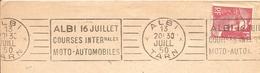 1950 Albi ,Courses Motos,Automobiles 16 Juillet