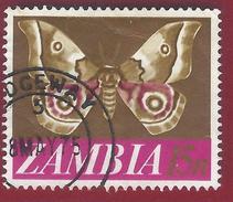 1968 - Zambia - Moth (Nudaurelia Zambesina) - Mi:ZM 45 - Used - - Zambia (1965-...)