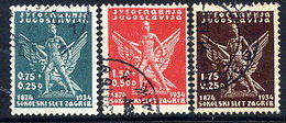 YUGOSLAVIA 1934 Zagreb Sokol Games, Used.  Michel 275-77 - 1931-1941 Kingdom Of Yugoslavia