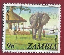 1975 - African Elephant (Loxodonta Africana) -  Yt:ZM 139 - Used - Zambia (1965-...)