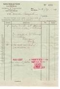 Facture De Dosin&Gallée Datée De Mons St.Ghislain 11/3/1921 + Timbre Fiscal PR4049 - 1900 – 1949