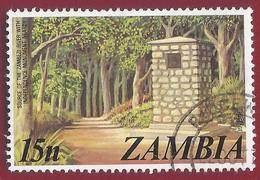 1975 - Source Of The Zambezi River, Independence Monument - Yt:ZM 141 - Used - Zambia (1965-...)