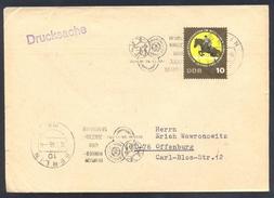 Germany DDR 1966 Cover: Athletics Athletik Leichtathletik; German Child And Youth Spartakiade Berlin Slogan Cancellation