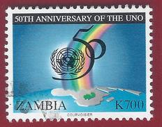 1995 - Emblem - Rainbow - Yt:ZM 600 - Used - Zambia (1965-...)