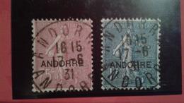 ANDORRE FRANCAIS 17 Et 18 Oblitérés