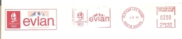 "1992  Jeux Olympiques Albertville / EMA "" Evian"""