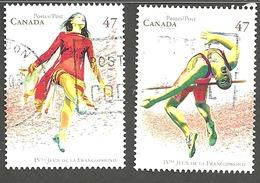 Sc. #1894 & 95 Francophone Games Pair Used 2004 K1253