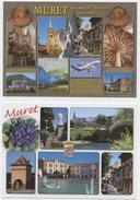 Muret, 31, 2 Cartes, Pigeonnier,retraite, Niel,Ader, L'Eole,Toulouse,St Bertrand, Orgue, Airbus , Histoire Régionale - Muret