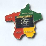 Pin's  MERCEDES INTER ETOILE - Carte Aux 4 Couleurs - G070 - Mercedes