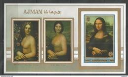 AJMAN - MNH - Art - Painting - Mona Lisa - Imperf.
