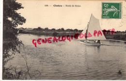 78 - CHATOU - BORDS DE SEINE   VOILIER - 1914 - Chatou