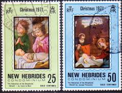 NEW HEBRIDES(English Inscr.) 1971 SG 152-53 Used Christmas