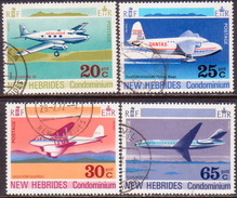 NEW HEBRIDES(English Inscr.) 1972 SG 154-57 Compl.set Used Aircraft