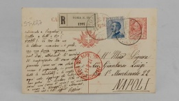ST- STORIA POSTALE, CARTOLINA, MILITARY POSTCARD, Cartolina Postale, Timbro Rosso, Perfetta, Rara - 1900-44 Vittorio Emanuele III