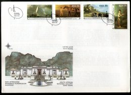 South Africa 1980 National Gallery Painting Landscape Ship Sc 538-41 FDC # 15134