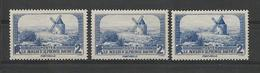 FRANCE 1936 LOT DE 3 EXEMPLAIRES Le Moulin De DAUDET   N° YT 311  Neuf** (lot Divisible Si Besoin)