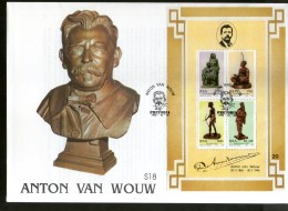 South Africa 1992 Sculptures By Anton Van Wouw Art Sc 843a M/s On FDC # 15224
