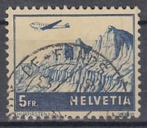 SCHWEIZ 394, Gestempelt, Flugpostmarke 1941