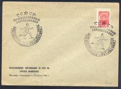 Russia CCCP 1961 Cover: Athletics Athletik Leichtathletik; Running Track & Field;