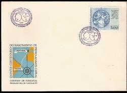 Portugal & FDC Portuguese Navigators, V Centenary Of The Birth Of Pedro Alvares Cabral, Lisbon 1969 (1038)