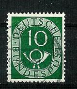 Bund 1951: Posthorn, Mi.-Nr. 128,  Gest.