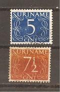 Surinam  Yvert  276-77 (usado) (o) - Suriname ... - 1975