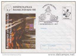 COMPUTERS, INTERNET NETWORK, COVER STATIONERY, OVERPRINT STAMPS, 1999, ROMANIA