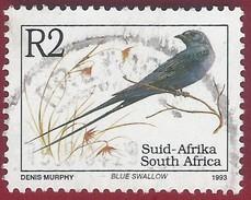 1993 - Blue Swallow (Hirundo Atrocaerulea) -  Yt:ZA 822 - Used