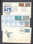 Greece AHEPA 1965 ILO Tourism Yachts Festova Views1969 3 Covers With Day Of Issue Cancel 04s - FDC