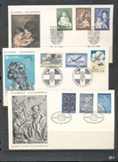 Greece Planets Astronauts Space Ships 1965 Royal Family 1969 Hellenic Air Force 3 Covers With Day Of Issue Cancel 04s - FDC