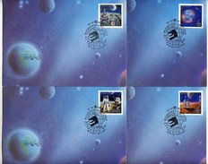 SOVIET UNION 1989 World Stamp Expo (space) Set Of 4 FDC's.  Michel 6020-23A - 1923-1991 USSR
