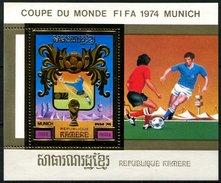République Khmère, BF N° 33D** Y Et T, Bloc - Feuillet, Coupe Du Monde De Football, Munich, 1974 - Camboya