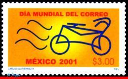 Ref. MX-2240 MEXICO 2001 STAMP DAY, WORLD POST DAY, BIKE,, MI# 2934, MNH 1V Sc# 2240