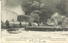 Incendie Des Tanks à Pétrole De Hoboken-Anvers Vue Intérieure Des Tanks De Eiffe Co à Gauche Au Milieu... (5238) - Antwerpen